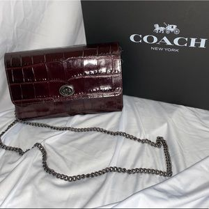 Coach Crossbody Purse with Chain